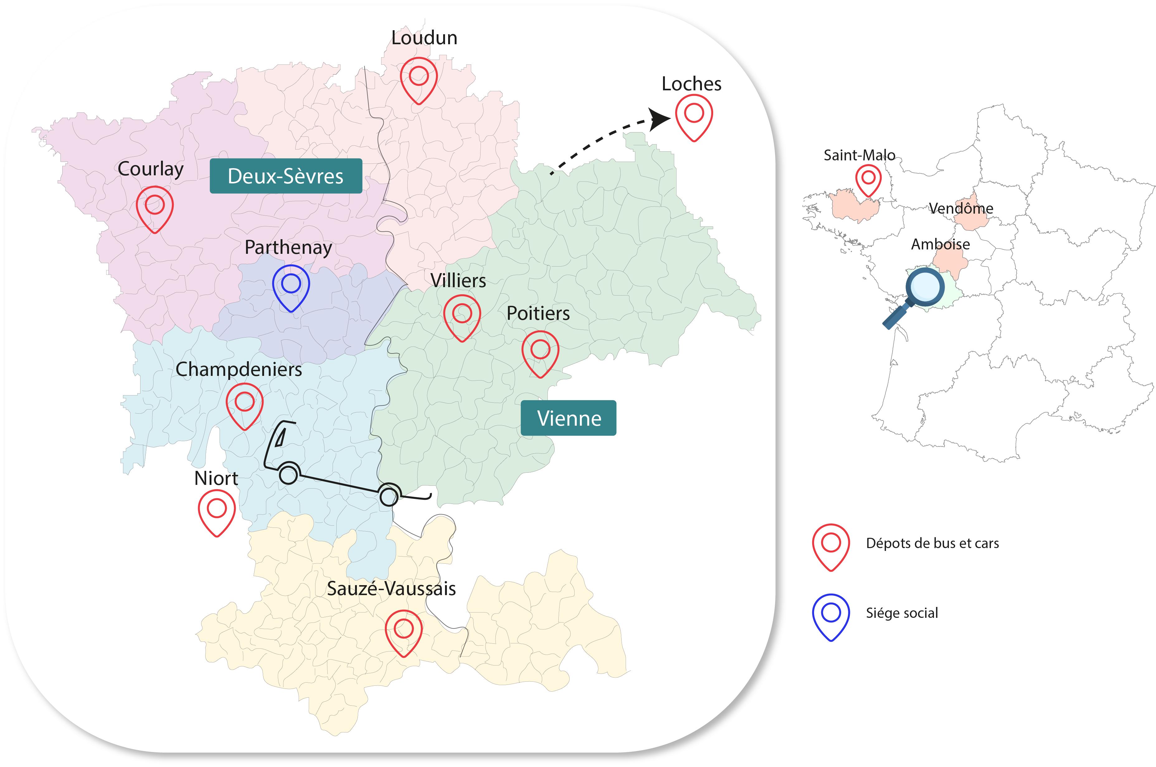 Carte interactive réseau